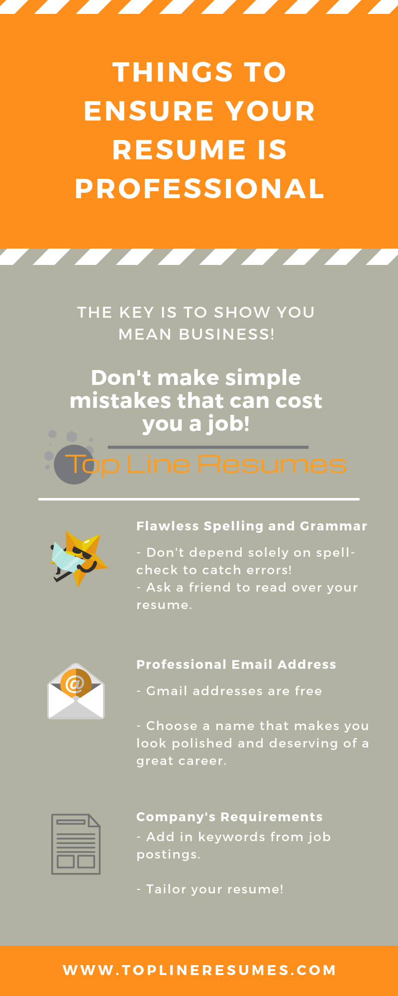 Ensure your resume is professional